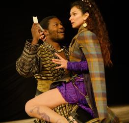 Scene from Titus Andronicus, Shakespeare's Globe, 2014