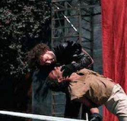 Scene from Richard III, New Shakespeare Company, Open Air Theatre, Regent's Park London, 1995