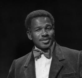 Portrait of Rudolph Walker as Gower, Pericles, Royal Shakespeare Company, Swan Theatre, 1989