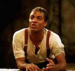Portrait of Ray Fearon as Romeo, Romeo and Juliet, Royal Shakespeare Company, Swan Theatre, 1997