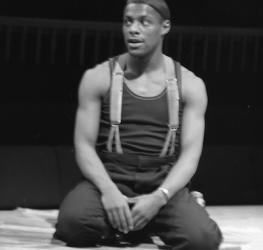 Portrait of Paterson Joseph as Patroclus, Troilus and Cressida, Royal Shakespeare Company, Swan Theatre, 1990