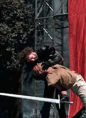 Scene from Richard III, New Shakespeare Company, Open Air Theatre, Regent's Park London, 1995