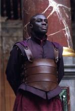 Tas Emiabata as Maecenas in Antony and Cleopatra, Shakespeare's Globe, 2006