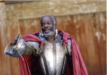 Joseph Mydell as Cominius, Coriolanus, Shakespeare's Globe, 2006