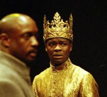 David Oyelowo as Henry VI in Henry VI Part 1, Royal Shakespeare Company, Swan Theatre, Stratford-upon-Avon, 2000