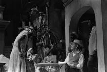 Scene from Measure for Measure, National Theatre, 1981