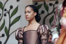 Portrait of Cush Jumbo as Maria, Loave's labour's Lost, Shakespeare's Globe, 2007