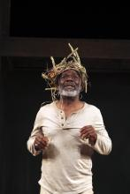 Portrait of Joseph Marcell as King Lear, Shakespeare's Globe, 2013
