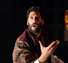 Portrait of Robert Mountford as Macbeth, Tara Arts Touring Production, 2015